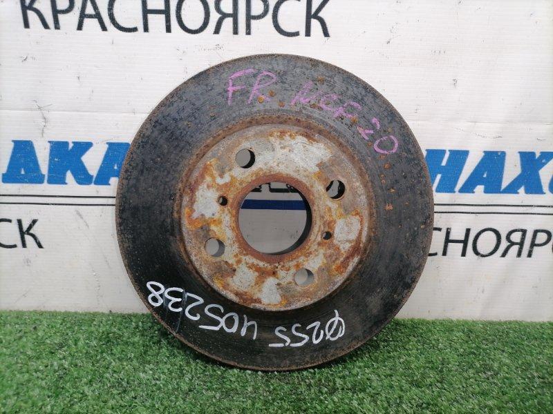 Диск тормозной Toyota Funcargo NCP21 1NZ-FE 1999 передний Передний, вентилируемый, диаметр 255мм