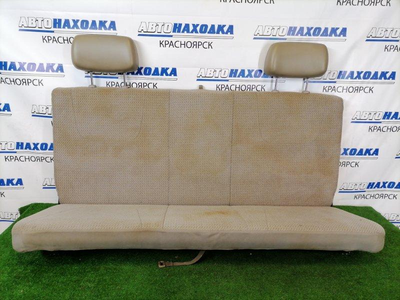 Сиденья Toyota Dyna BU306 B4 1999 задняя Задний диван, серый, ткань, подголовники из кожзама.