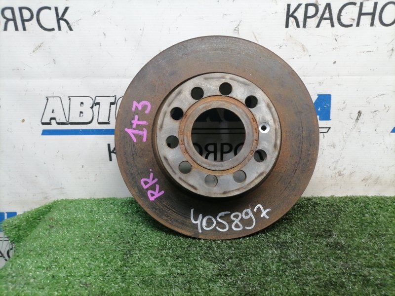 Диск тормозной Volkswagen Touran 1T3 CAVC 2010 задний задний, невентилируемый, 270 мм