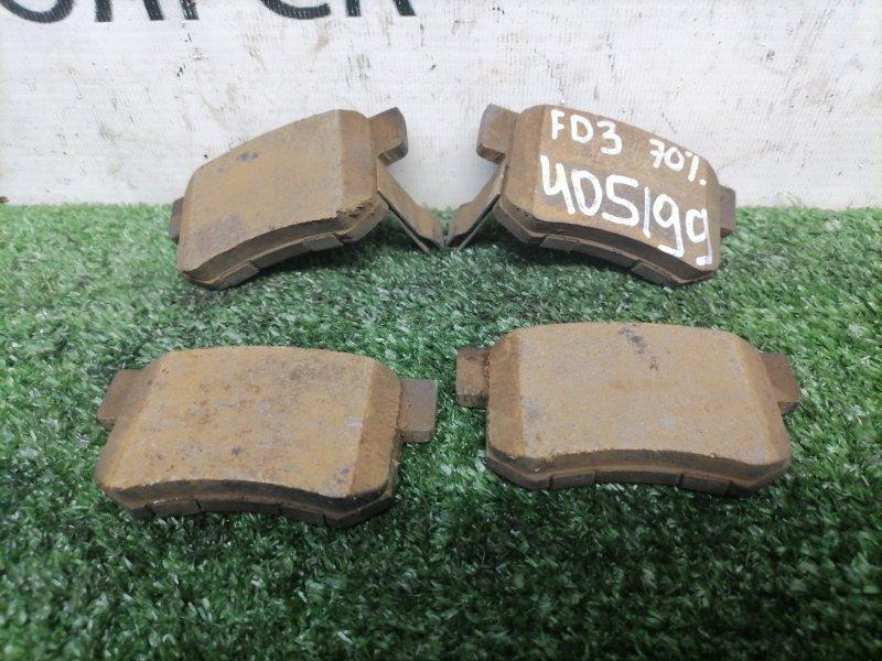 Колодки тормозные Honda Civic FD3 LDA 2008 задние задние, дисковые, комплект, остаток 70%