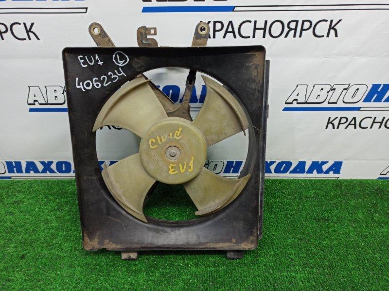 Вентилятор радиатора Honda Civic EU1 D15B 2000 левый левый, на кондиционер