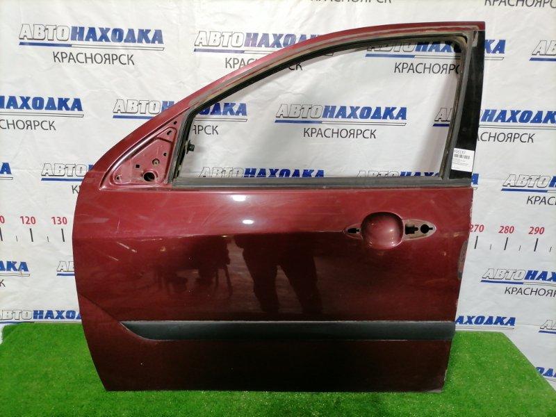 Дверь Ford Focus DFW FYDA 2004 передняя левая Передняя, левая, красная, седан=универсал. Без