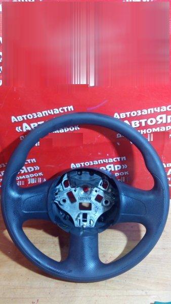 Руль Nissan March K13 HR12DE 2011 3 спицы, черный