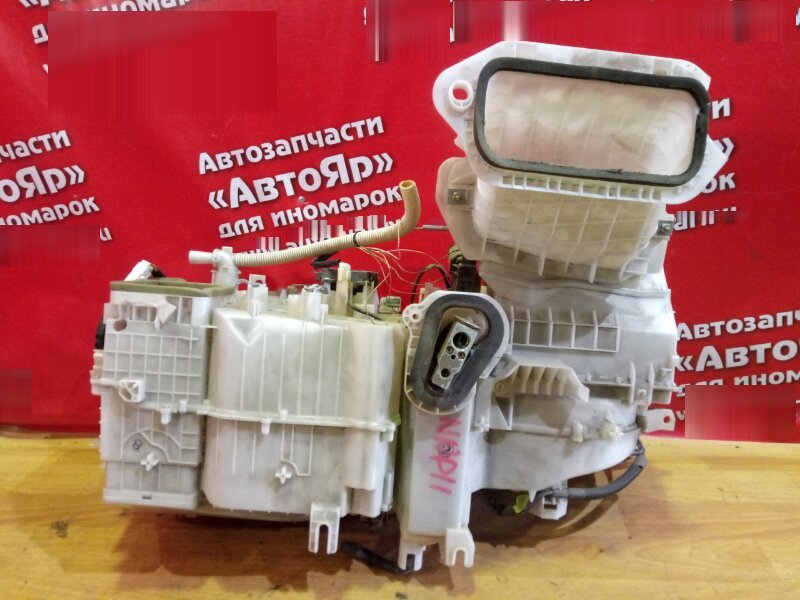 Корпус вентилятора отопителя Toyota Porte NNP11 1NZ-FE в сборе (три части+ радиатор печки+