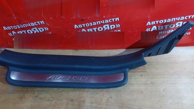 Накладка пластиковая в салон Toyota Avensis AZT250 1AZ-FSE 2004 задняя левая на порог