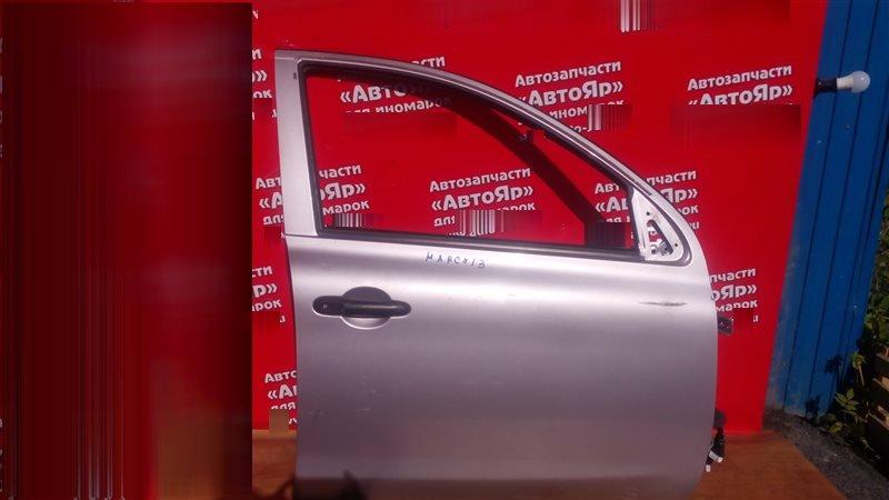 Дверь боковая Nissan March K13 HR12DE 2011 передняя правая цена за голую, в сборе без петель, блока