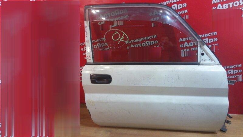 Дверь боковая Mitsubishi Pajero Io H66W 4G93 1998 передняя правая трех дверный, цена за голую.