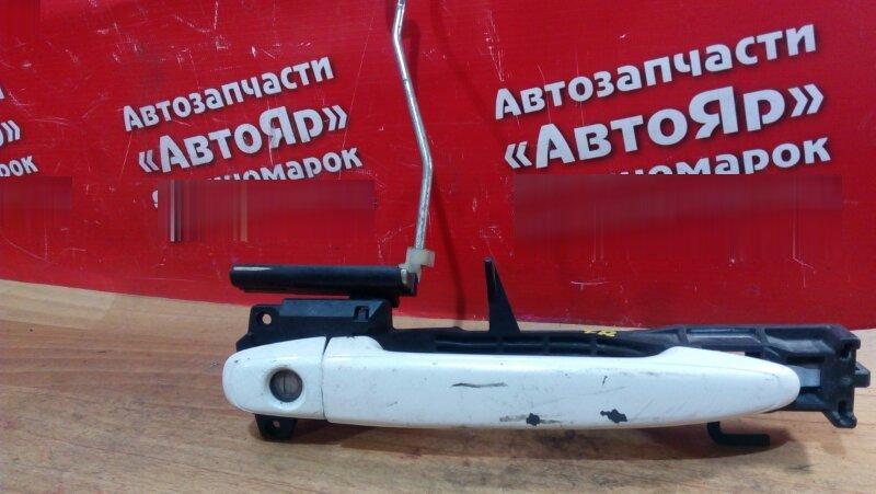 Ручка двери Toyota Alphard ANH10W 2AZ-FE передняя правая передняя правая, белый перламутр с