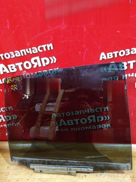 Стекло боковое Toyota Vitz KSP90 1KR-FE 2008 заднее правое