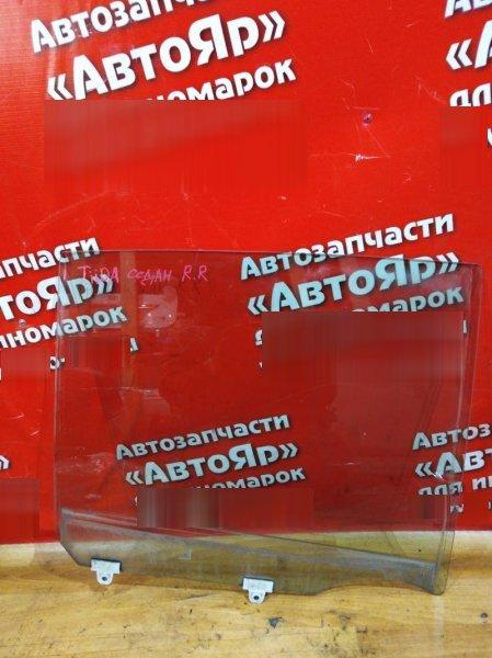 Стекло боковое Nissan Tiida Latio SNC11 HR15DE 2005 заднее правое