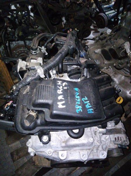Двигатель Nissan March K13 HR12DE 2011 цена без навесного, 76т.км., №387684A