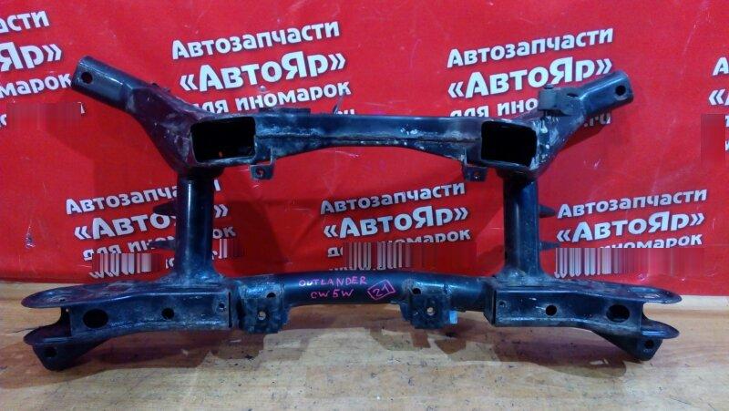 Балка поперечная Mitsubishi Outlander Xl CW5W 4B12 2006 задняя сайленблок хороший