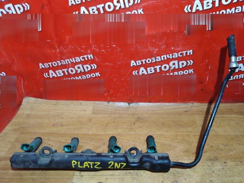 Форсунка Toyota Platz NCP16 2NZ-FE 2001 комплект 4шт. с рампой, 23250-21020