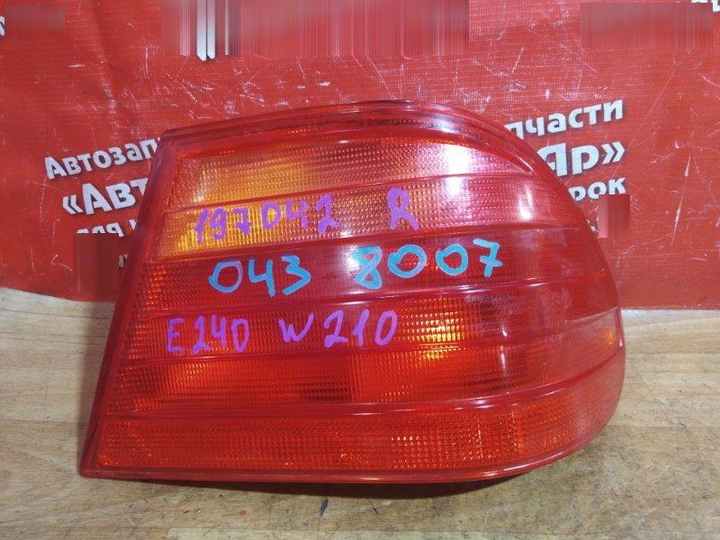 Стоп-сигнал Mercedes E240 W210 112.911 1999 задний правый правый № 197042