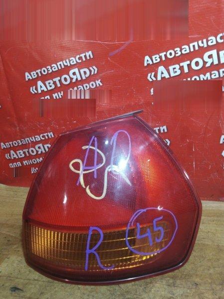 Стоп-сигнал Nissan Ad VFV11 QG15DE 1999 задний правый 220-24765