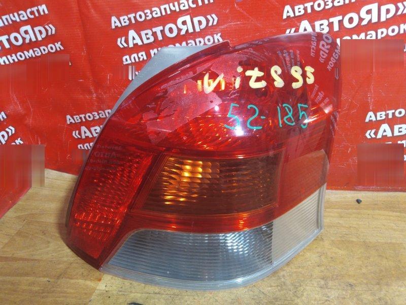 Стоп-сигнал Toyota Vitz NCP95 2NZ-FE 2008 задний правый №52185 дефект стекла