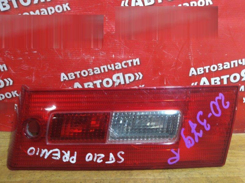 Стоп-сигнал Toyota Corona Premio ST210 задний правый правый, №20-379, в крышку багажника
