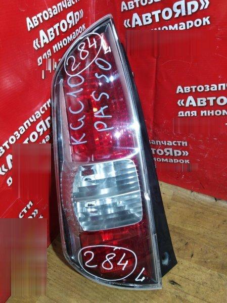 Стоп-сигнал Toyota Passo KGC10 задний левый 220-51762 дефект стекла