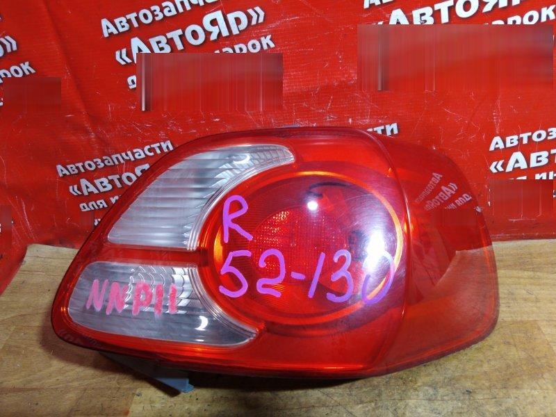 Стоп-сигнал Toyota Porte NNP11 1NZ-FE 2004 задний правый правый №52-130, трещина