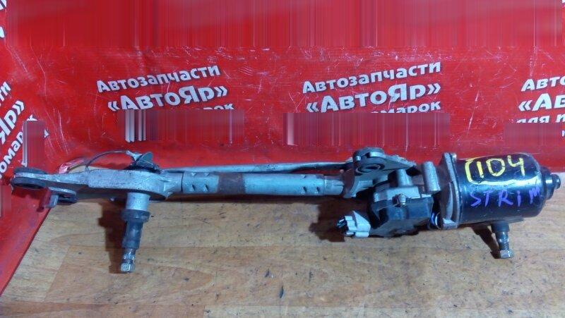 Механизм стеклоочистителя Honda Stream RN3 K20A 2001 передний С МЕХАНИЗМОМ
