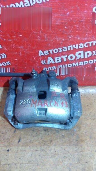 Суппорт тормозной Nissan March K13 HR12DE 2011 передний правый 176