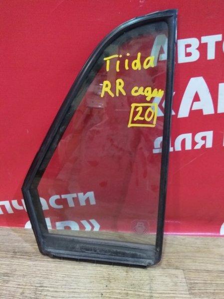 Стекло боковое Nissan Tiida Latio SC11 HR15DE 2005 заднее правое форточка
