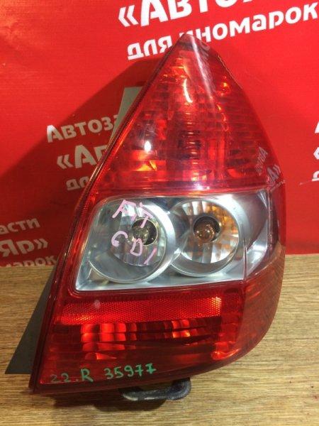 Стоп-сигнал Honda Fit GD1 L13A 2003 задний правый 49-49 дефект