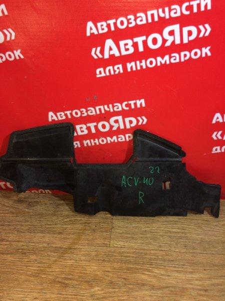 Защита радиатора Toyota Camry ACV40 2AZ-FE 2006.03 правая 53293-33030