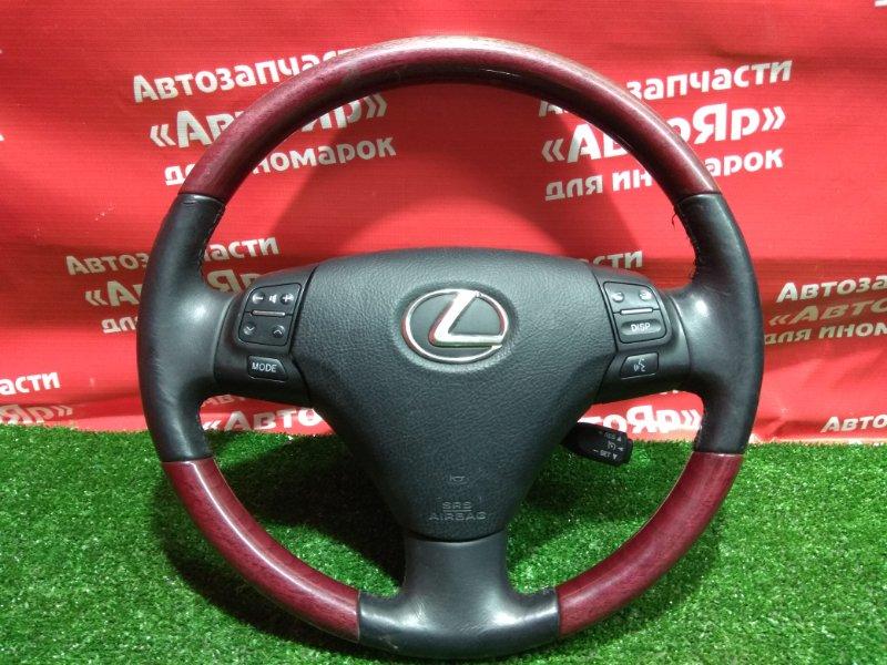 Airbag на руль Lexus Gs350 GRS191 2GR-FSE 2006.05 с патроном, руль кожа, мульти