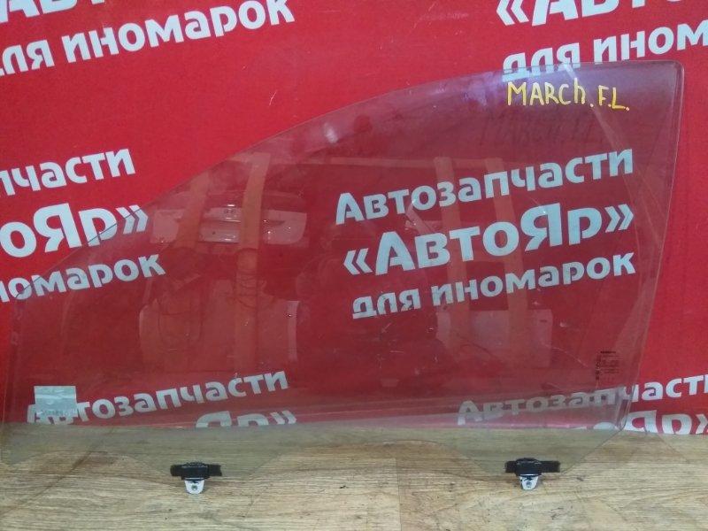 Стекло боковое Nissan March K13 HR12DE 2011 переднее левое