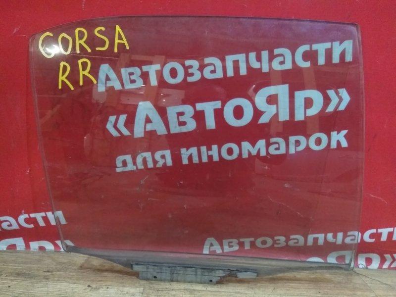 Стекло боковое Toyota Corsa EL51 4E-FE 1998 заднее правое