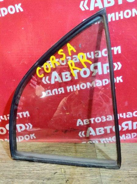 Стекло боковое Toyota Corsa EL51 4E-FE 1998 заднее правое форточка