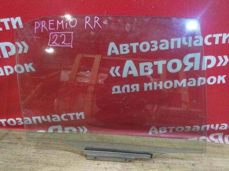 Стекло боковое Toyota Corona Premio ST210 3S-FSE 1999.03 заднее правое