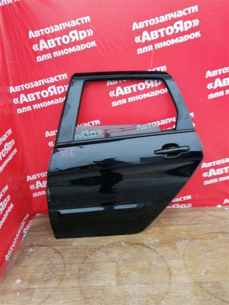 Дверь боковая Peugeot 308 EP6CDT 2010 задняя левая Универсал, цена за голую. Небольшие дефекты