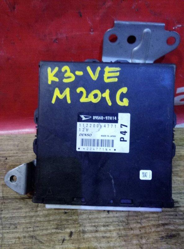 Блок управления efi Daihatsu Yrv M201G K3-VE 2003 89560-97H14, 112200-4771 механика