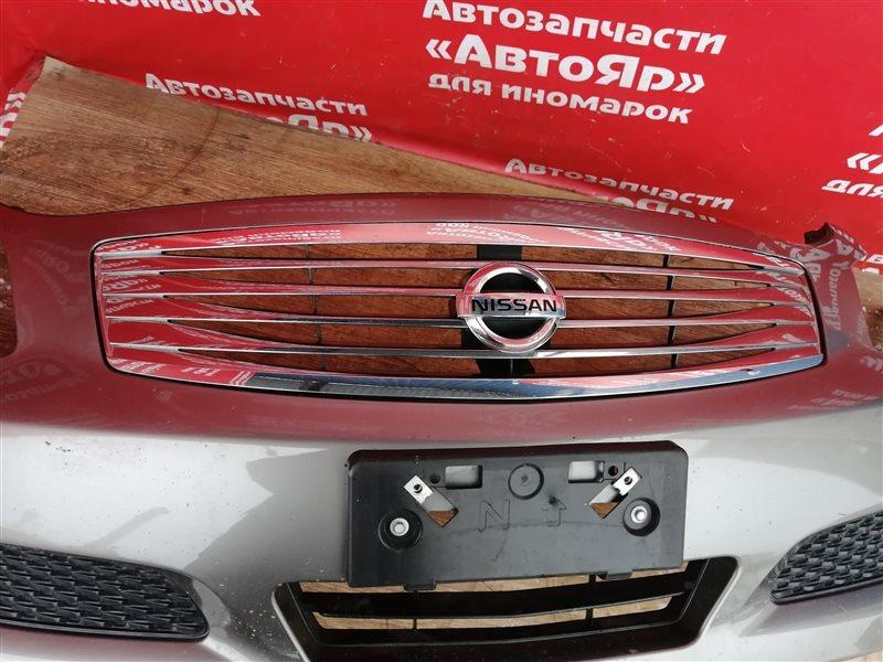 Решетка радиатора Nissan Skyline V36 VQ25HR 11.2006 В бампере, цена только за решетку.