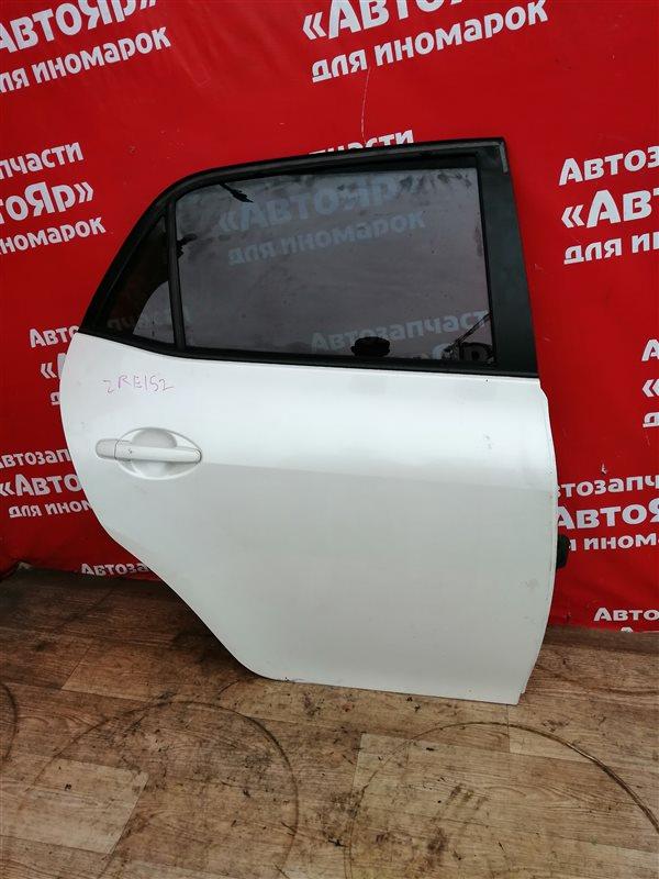 Стекло боковое Toyota Auris ZRE152H 2ZR-FE 10.2006 заднее правое