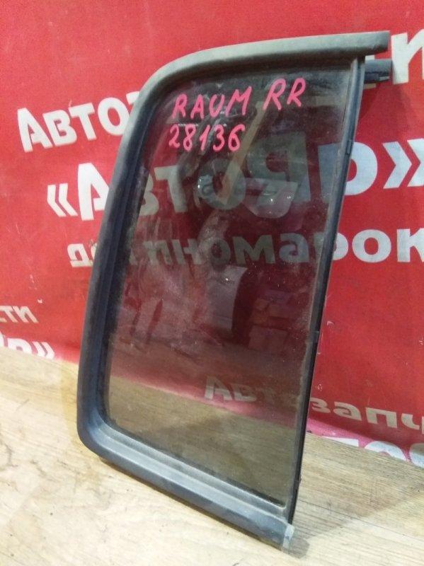 Стекло боковое Toyota Raum NCZ20 1NZ-FE 2003 заднее правое форточка