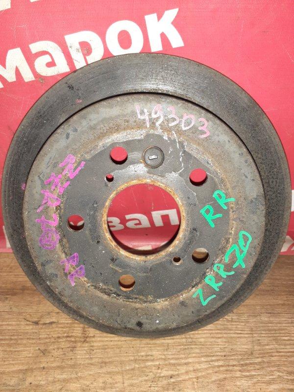 Диск тормозной Toyota Voxy ZRR70W 3ZR-FAE 08.2007 задний правый