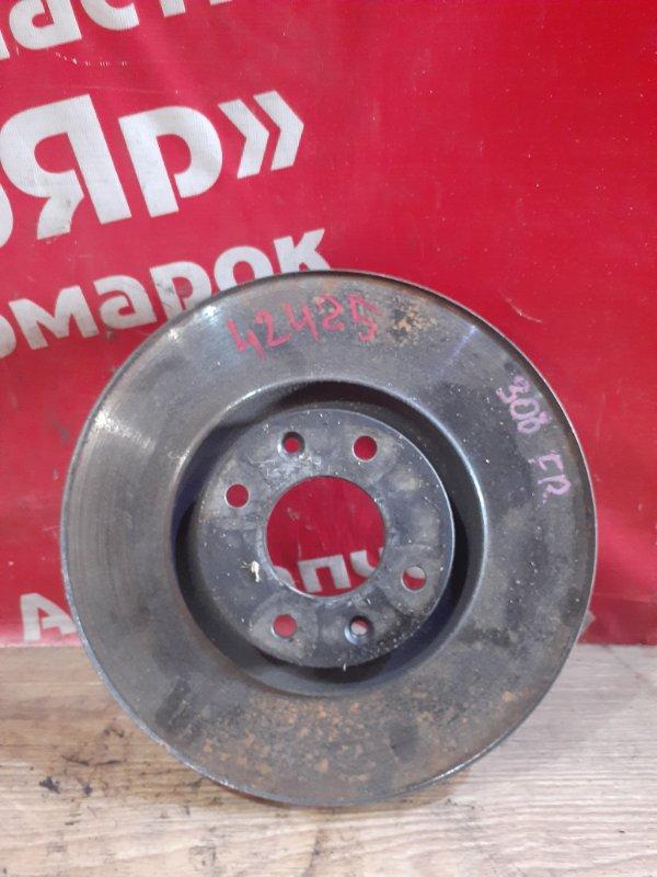 Диск тормозной Peugeot 308 EP6CDT 2010 передний правый 4249.80 . диаметр 302мм, под проточку кромки.