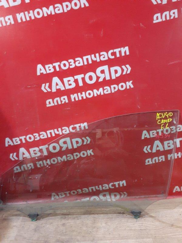 Стекло боковое Toyota Camry ACV40 2AZ-FE 08.2006 переднее левое