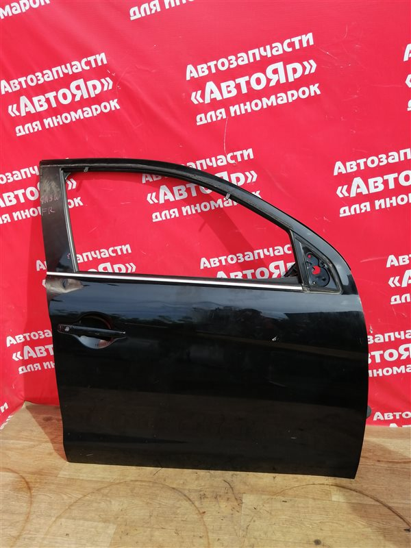 Стекло боковое Mitsubishi Asx GA3W 4B10 03.2011 переднее правое Опускное, зеленый оттенок.