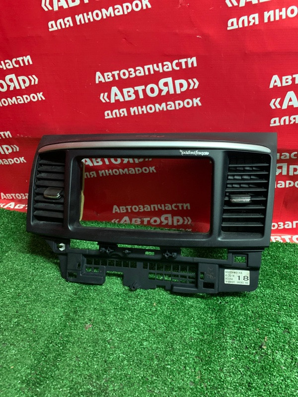Рамка магнитофона Mitsubishi Lancer X CY4A 4B11 03.2008 дефект