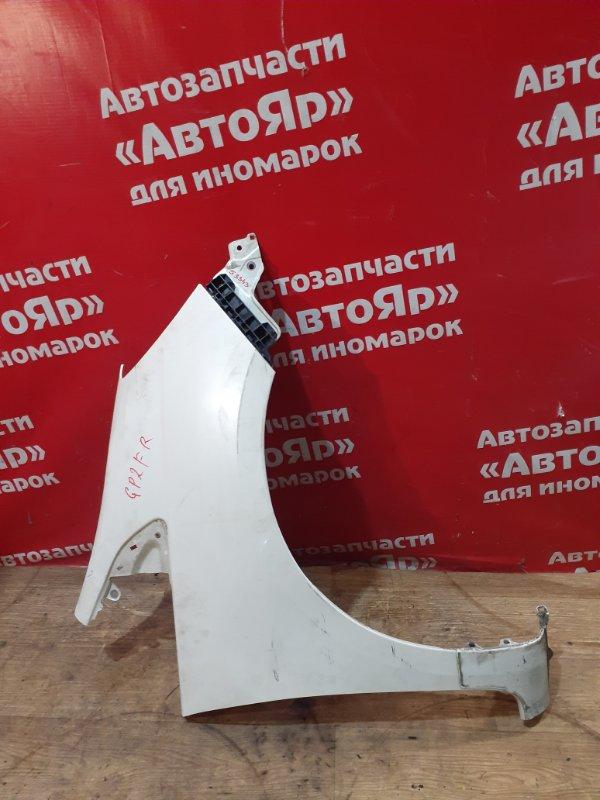 Крыло Honda Fit Shuttle GP2 LDA 2011 переднее правое с клипсой, дефект, состояние на фото