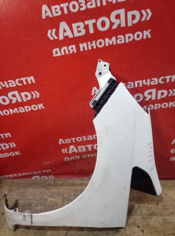 Крыло Honda Fit Shuttle GP2 LDA 2011 переднее левое с клипсой, состояние на фото