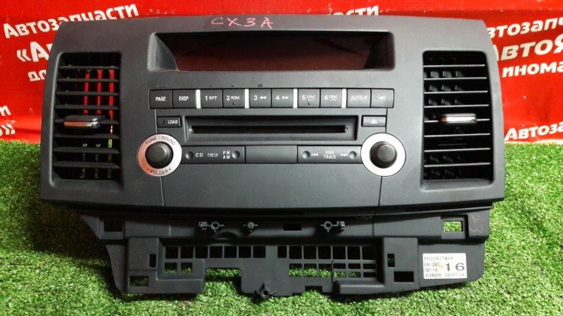 Магнитола Mitsubishi Lancer X CX3A 4B10 03.2010 8701A363 + панель 8002A374. Дефект верхнего крепления.