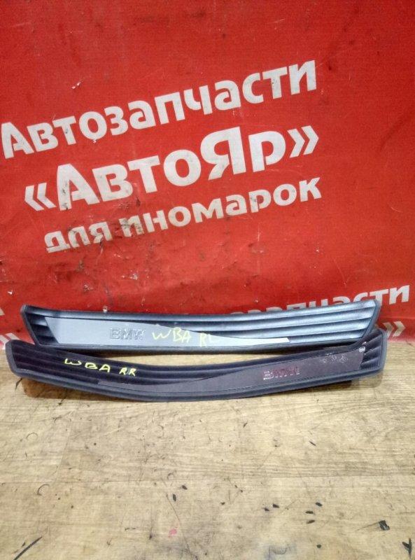 Накладка пластиковая в салон Bmw 525I E60 N52B25A 04.2005 задняя Накладка на порог задние 2шт.