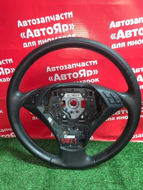 Руль Bmw 525I E61 M54B25 08.2004 мультируль