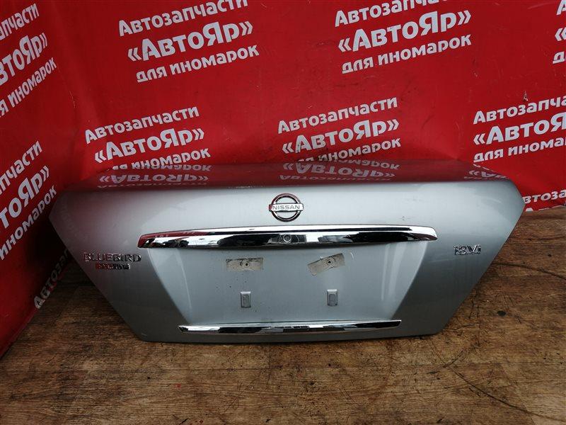Крышка багажника Nissan Bluebird Sylphy QG10 QG18DE 05.2003 2я модель, имеются мелкие царапины.