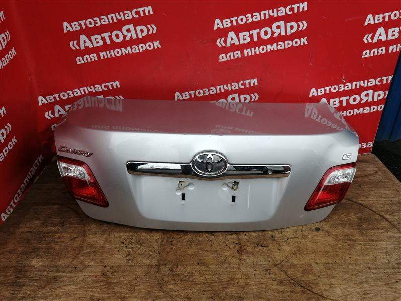 Крышка багажника Toyota Camry ACV40 2AZ-FE 02.2009 64401-33450. Вмятины, состояние на фотографиях.